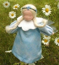 Evi Doll - Small Blue Fairy Girl Waldorf Doll