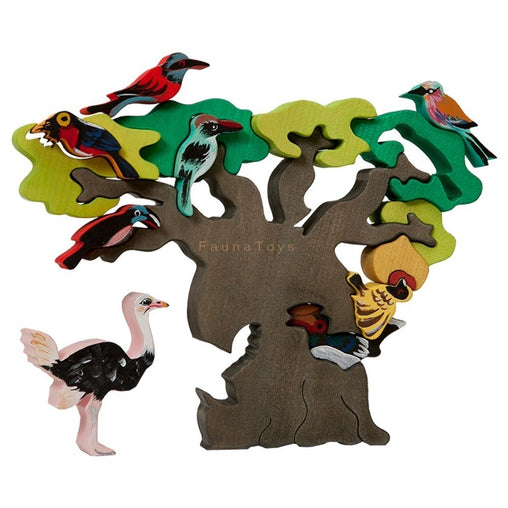 Fauna - Wooden African Bird Tree Puzzle 2