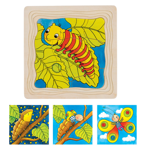 Goki - Caterpillar Lifecycle 4 Layer Puzzle