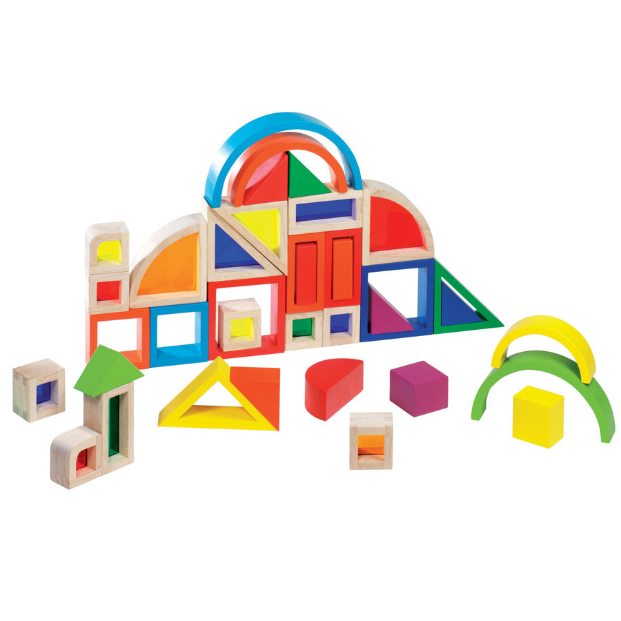 Goki – Rainbow Window Wooden Building Blocks
