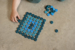 Grapat Mandala Blue Coins 36 pieces 2