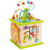 Wooden Country Critters Activity Cube