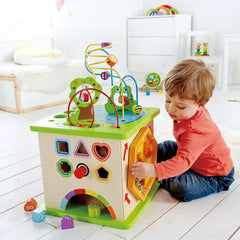 Hape - Wooden Country Critters Activity Cube 3