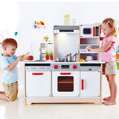 Hape All-in-1 Wooden Role Play Kitchen with Children
