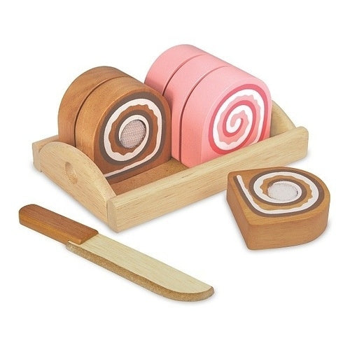 I'm Toy - Wooden Play Food Swiss Roll Cake
