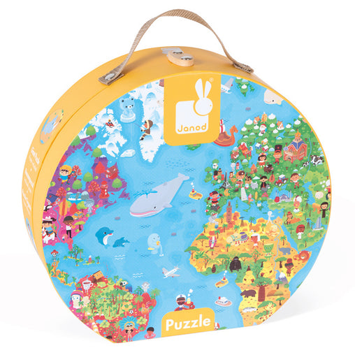 Janod - The World Giant Suitcase Floor Puzzle 300 pieces 2