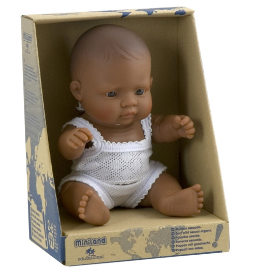 Miniland Doll Latin American Hispanic Boy 21cm Packaging