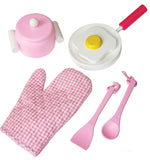 Pink Wooden Kitchen Cooking Set *