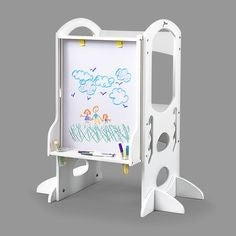 The Learning Tower - Learn and Share Art Easel Soft White