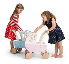 Le Toy Van - Wooden Moonlight Pram with Retractable Canopy 3