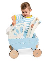 Le Toy Van - Wooden Moonlight Pram with Retractable Canopy 5