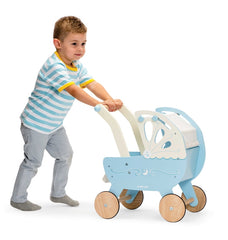 Le Toy Van - Wooden Moonlight Pram with Retractable Canopy 6