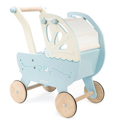 Le Toy Van - Wooden Moonlight Pram with Retractable Canopy 8