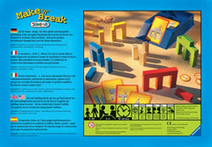 Ravensburger Game Make 'n' Break Junior Back Packaging