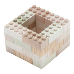 Mokulock Kodomo Wooden Building Bricks 60 Piece Set 2
