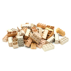 Mokulock Kodomo Wooden Building Bricks 60 Piece Set Pieces