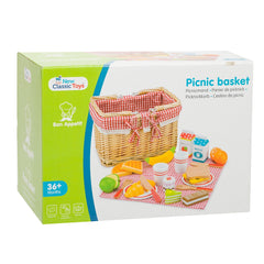 New Classic Toys - Picnic Basket with Play Food 3
