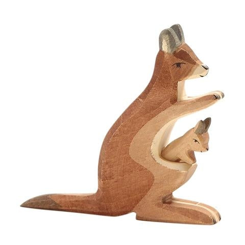 Ostheimer - Wooden Kangaroo with Removable Baby
