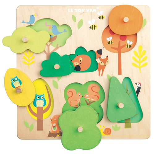 Le Toy Van - Wooden Petilou Woodland Tree Peg Puzzle