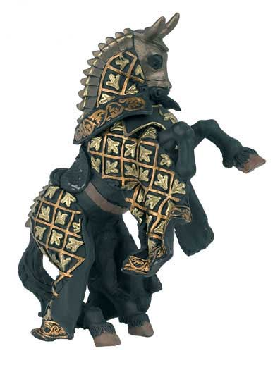 Papo Figurine - Horse Knight Bull Black 39918