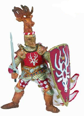 Papo Figurine - Knight Stag Red 39911
