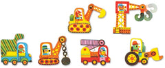 Djeco Puzzle Duo Vehicles 12 pieces 2