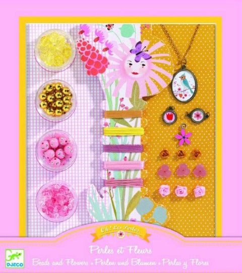 Djeco - Beads & Flowers Jewellery Kit