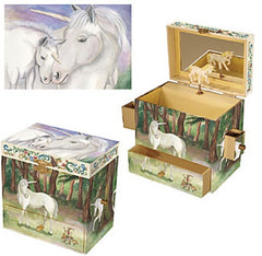 Enchantmints Musical Jewellery Treasure Box Unicorn Images