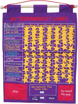 Fabric Wall Chart - My Responsibility *