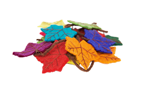 Rainbows & Clover - Felt Rainbow Maple Leaf Garland 3