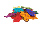 Felt Rainbow Flame Tree Leaf Garland