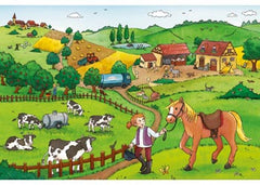 Ravensburger Working on the Farm 2x12-piece Puzzle Farm