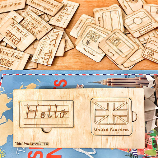 Plyful 'Hello' Language, Country & Flag Puzzle