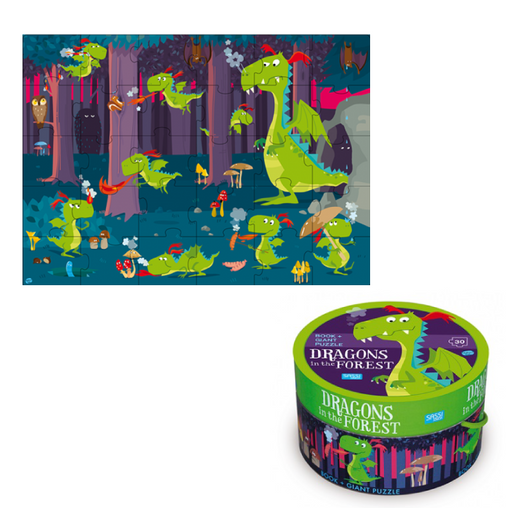 Sassi Junior - Dragon in the Forest Book and Giant Puzzle 3