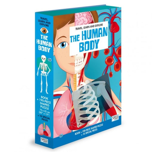 Sassi Science - The Human Body Book and 200 Piece Puzzle