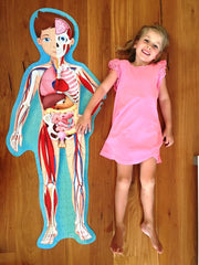 Sassi Junior Travel Learn & Explore the Human Body Puzzle and Book Girl