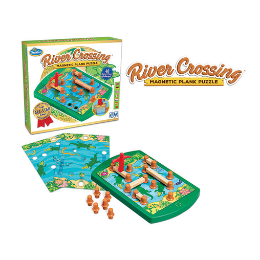 Thinkfun River Crossing Magnetic Plank Puzzle