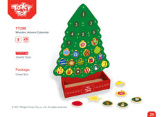 Tooky Toy - Wooden Christmas Tree Advent Calendar
