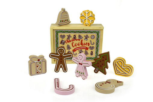 Tooky Toy - Wooden Play Food Christmas Cookies 2