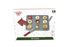 Tooky Toy - Wooden Role Play Christmas Cookies with Cooking Equipment 2