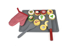 Tooky Toy - Wooden Role Play Christmas Cookies with Cooking Equipment