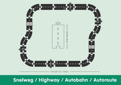 Waytoplay - Highway 24 Piece Rubber Road Set 2