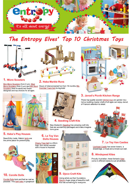 Entropy Top 10 Christmas Toys 2013