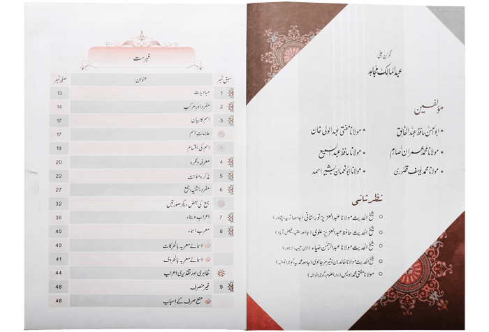 Order your copy of Quwaid-Un-Nahaw (Part 1) (قواعد و نحو (حصہ اول published by Darussalam Publishers from Urdu Book to get a huge discount along with FREE Shipping and chance to win free books in the book fair and Urdu bazar online.
