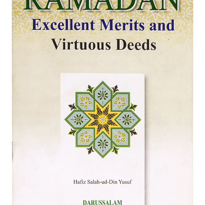 Order your copy of Ramadan Excellent Merits and Virtuous Deeds published by Darussalam Publishers from Urdu Book to get a huge discount along with  Shipping and a chance to win  books in the book fair and Urdu bazar online.