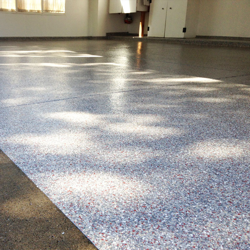 Interior and Exterior garage floor coating picture