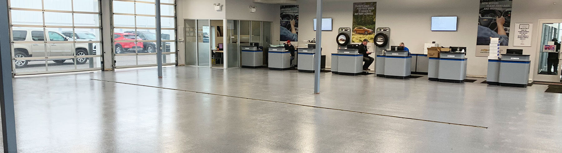 Auto Service Bay Drive Up Floor Coating