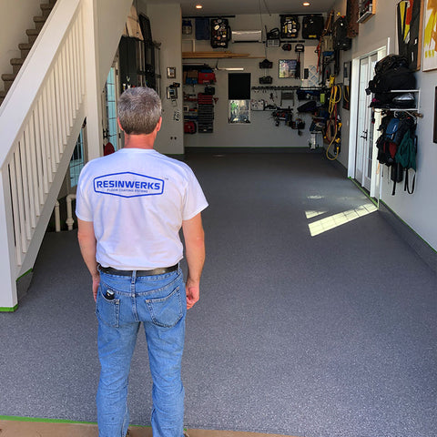 Resinwerks Floor Coating Contractor Inspecting a Project