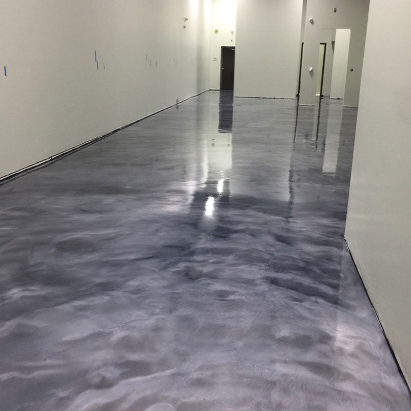 Metallic Epoxy Floor Grey and Silver