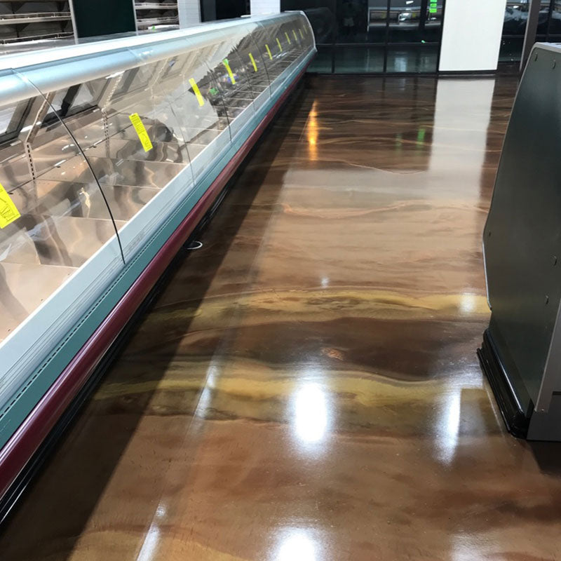 brown metallic epoxy floor